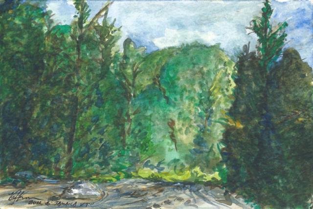 "West River, watercolor 7""x5"""