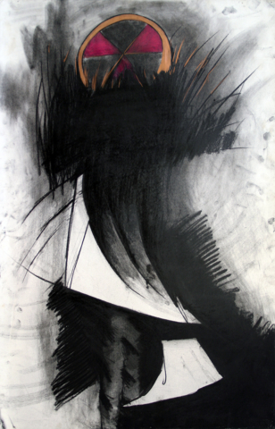 """the Father, charcoal, crayon 26""""x40"""".jpg"""