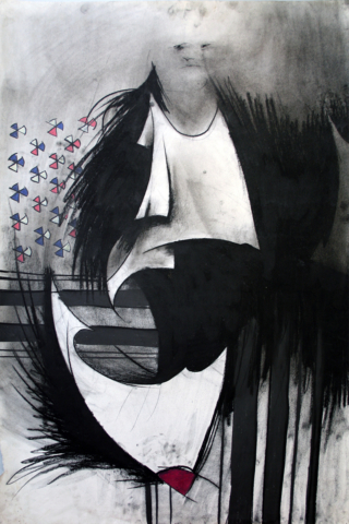"""the Holy Ghost charcoal, crayon 26""""x40"""".jpg"""